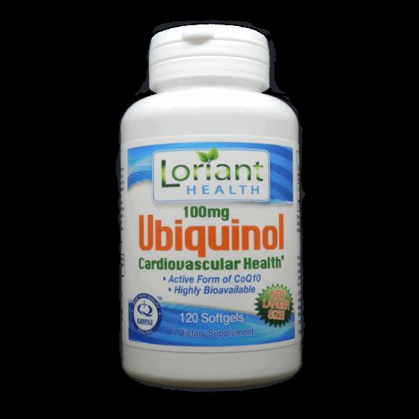 Ubiquinol CoQ10 120 Count Bottle Front Panel