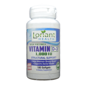 Vitamin D-3 Softgels Front Bottle Label