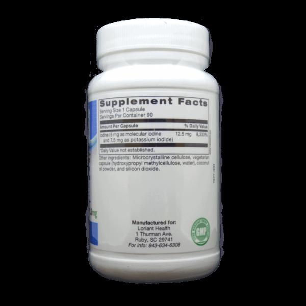 Iodine Complex Supplement Facts Label