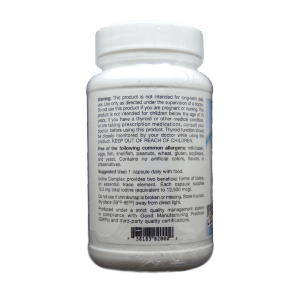 Iodine Complex Usage and Facts Label