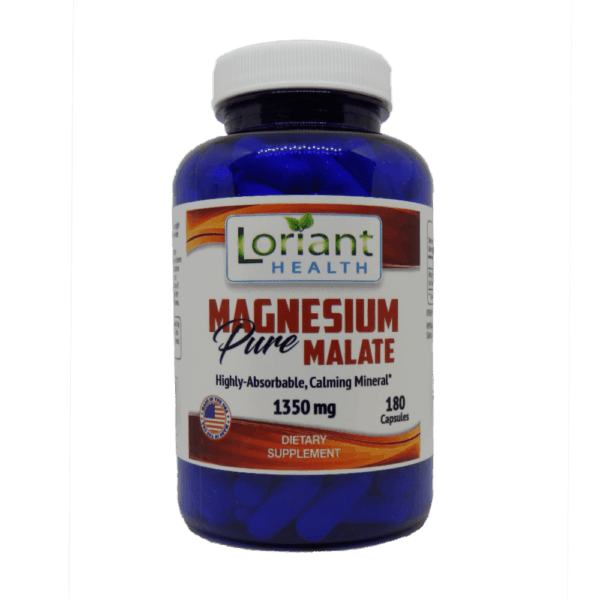 Magnesium Malate Front Label of Bottle