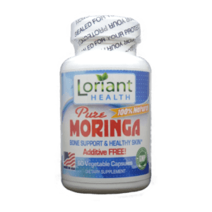 Moringa 60 Count Front Bottle Label