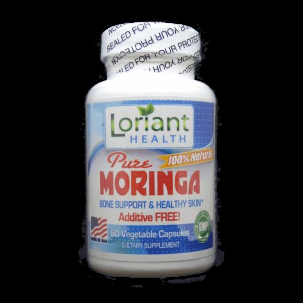 Moringa 60 Count Front Bottle Label