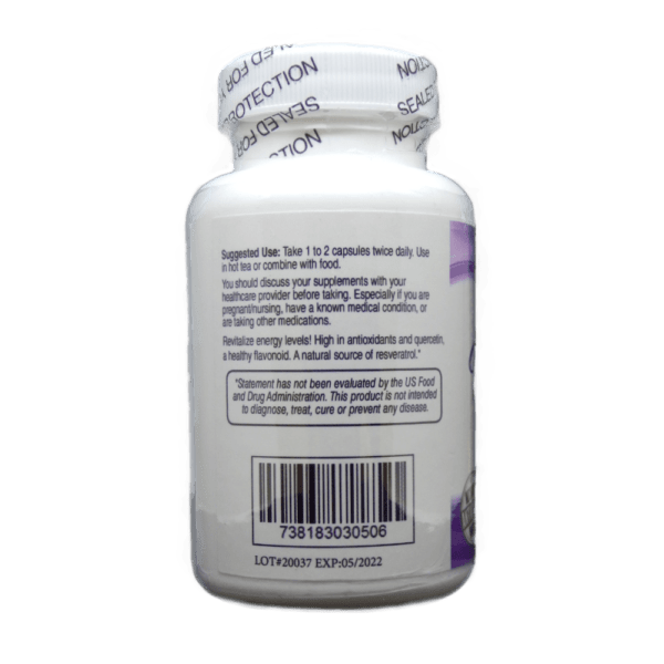Muscadine Grape Seed Usage and Facts Label