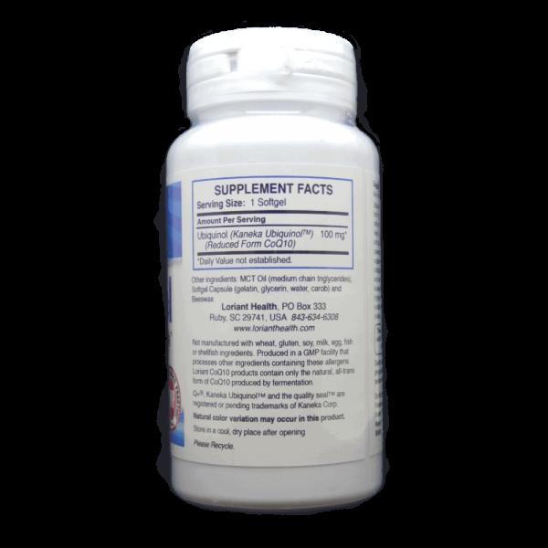 Ubiquinol 60 count supplement facts