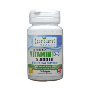 Vitamin D-3 5000 IU Front Label of Bottle