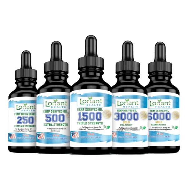 Full Line of Hemp Derived Oil with no Leaves