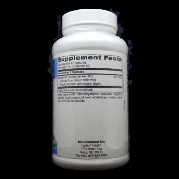 Fresh Berberine Supplement Facts Label