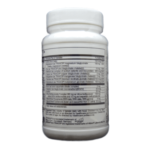 Complete 2 Multi Supplement Facts and Usage Label