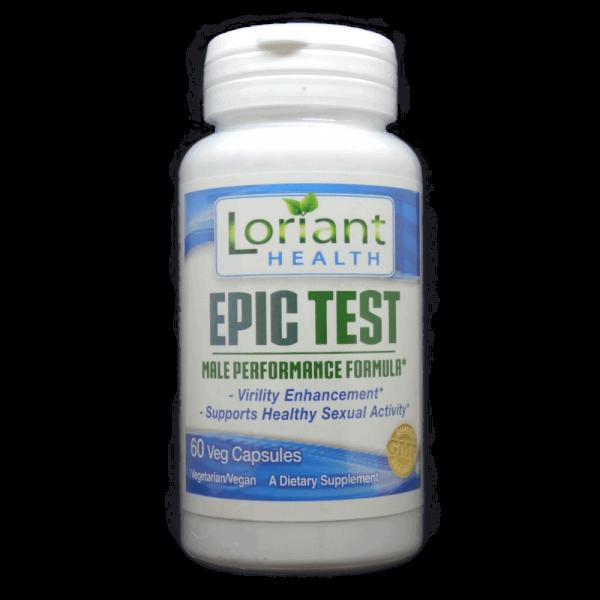 Epic Test Front Label of Bottle