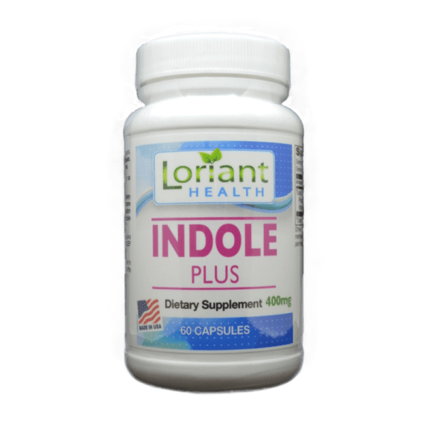Indole Plus Front Label of Bottle