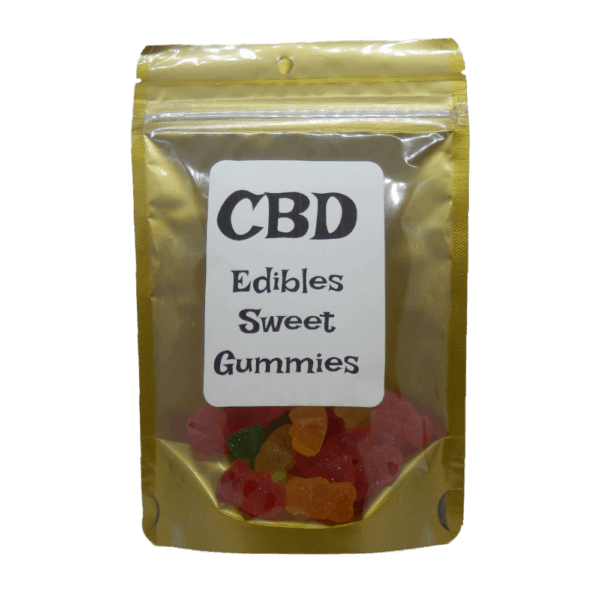 CBD Sweet Gummies Package with Label