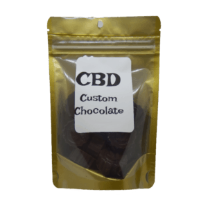 CBD Custom Chocolate Product with Label