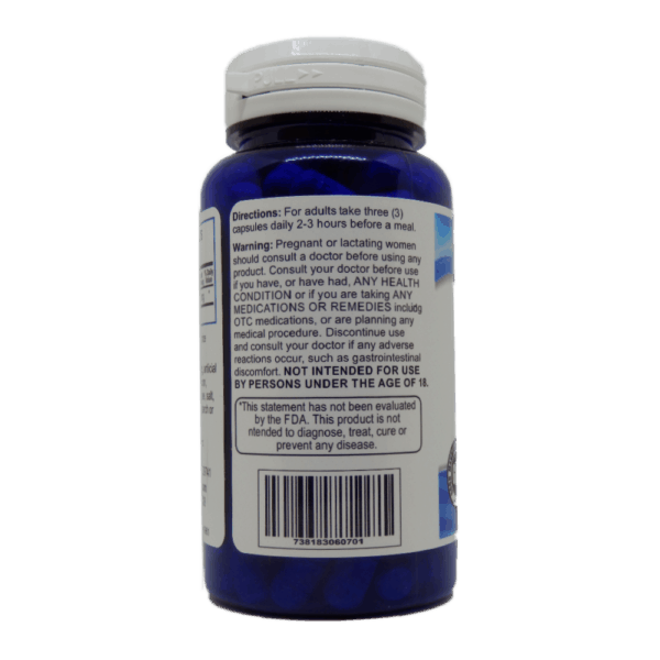 Activated Charcoal Supplement Facts and Usage Label