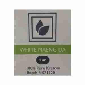 White Maeng DA Kratom Product Label