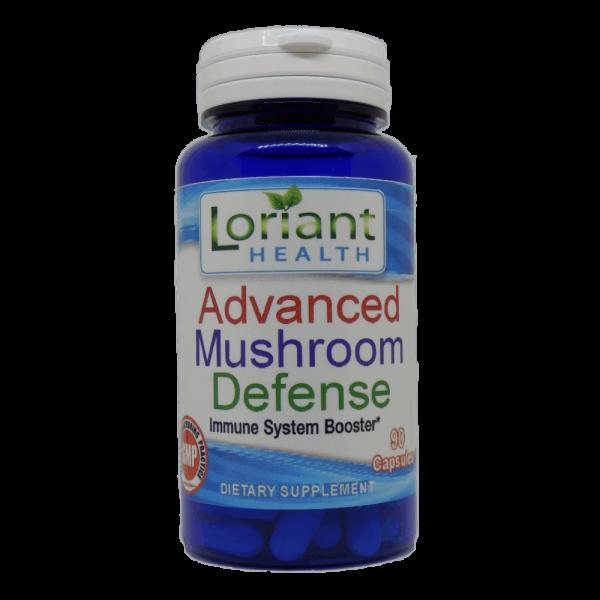 Advanced Mushroom Defense Front Label of Bottle