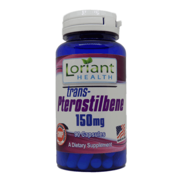 Pterostilbene 90 Front Label of Bottle