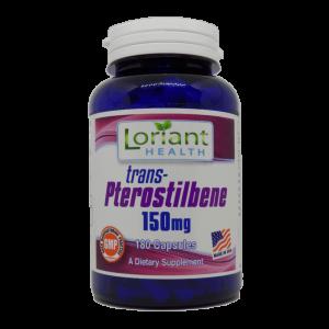 Pterostilbene 180 Front Label of Bottle