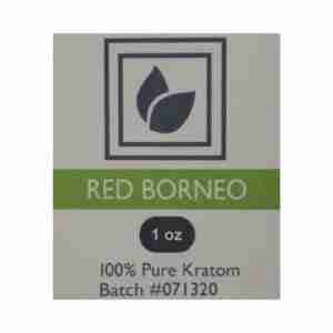 Red Borneo Kratom Product Label
