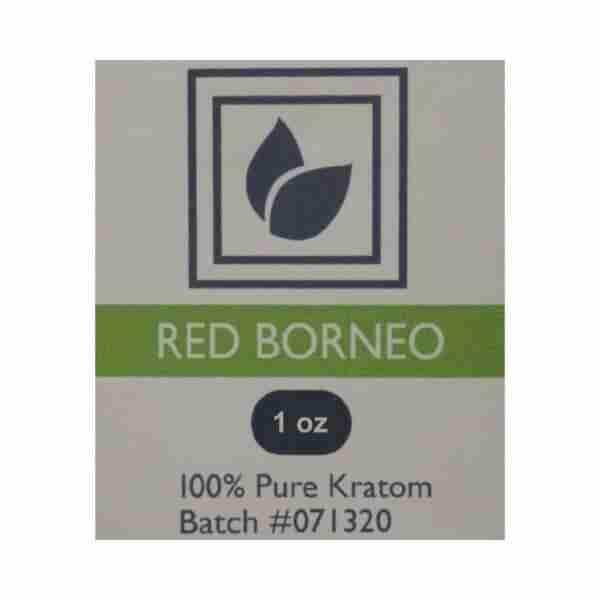 Red Borneo Kratom Product Label