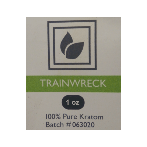Trainwreck Kratom Package Label